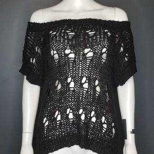 EXPRESS Off Shoulder black sweater  S